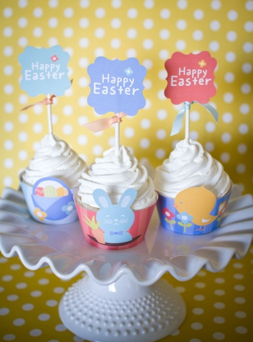 free_Easter_cupcake_printables, easter, cupcakes, dessert, food, cupcake, holiday
