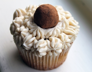 ... Irish Buttercream Frosting, Topped with Irish Cream Truffles Cupcakes