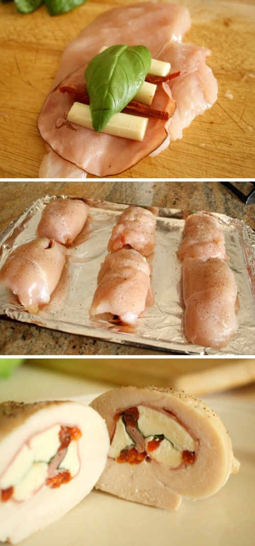 Caprese-Stuffed-Chicken-Roll-Up-Cups-Recipe-By-Cupcakepedia, chicken, cheese, recipes and instructions, food, chicken cups, cup cakes, cupcakepedia