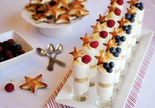 July 4th 2013 Stars & Stripes Cheesecake Shots Cupcaketini Recipe By Cupcakepedia, July 4th, 4th of July Desserts, Stars, Raspberries, Blueberries, Cheesecake Cupcaketini, Cupcaketini, Desserts, food, dessert, cheescake in a jar