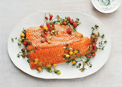 slow_cooking_salmon_with_cherry_tomatoes recipe by cupcakepedia, salmon, dinner, cupcakepedia, food, slow cooking, roast